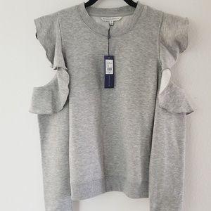 Rebecca minkoff cold shoulder shirt size small